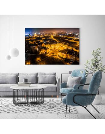 Obraz na płótnie fotoobraz fedkolor Lublin Plac po Farze nocą