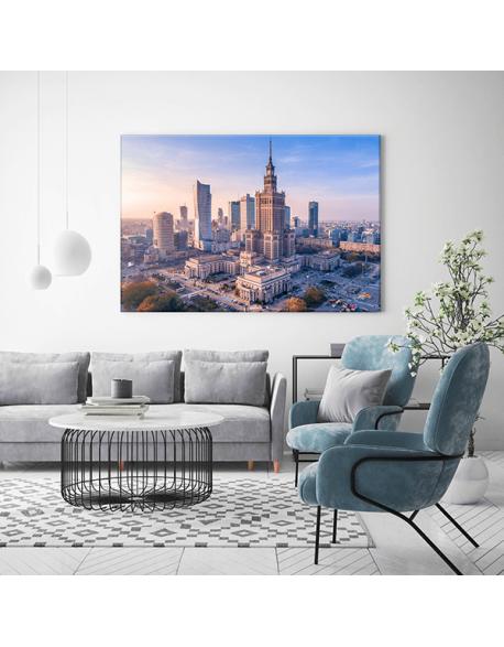 Obraz na płótnie fotoobraz fedkolor Warszawa Widok na Pałac Kultury
