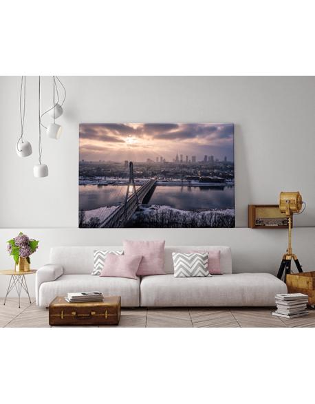 Obraz na płótnie fotoobraz fedkolor Warszawa Zimowa panorama