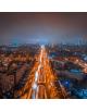 Obraz na płótnie fotoobraz fedkolor Warszawa - Centrum nocą