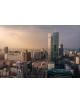 Obraz na płótnie fotoobraz fedkolor Warszawa - Centrum o zachodzie