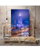 Obraz na płótnie fotoobraz fedkolor Warszawa - Pałac Kultury nocą