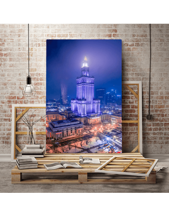 Warszawa - Pałac Kultury nocą