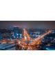 Obraz na płótnie fotoobraz fedkolor Warszawa - Rondo Radosław nocą