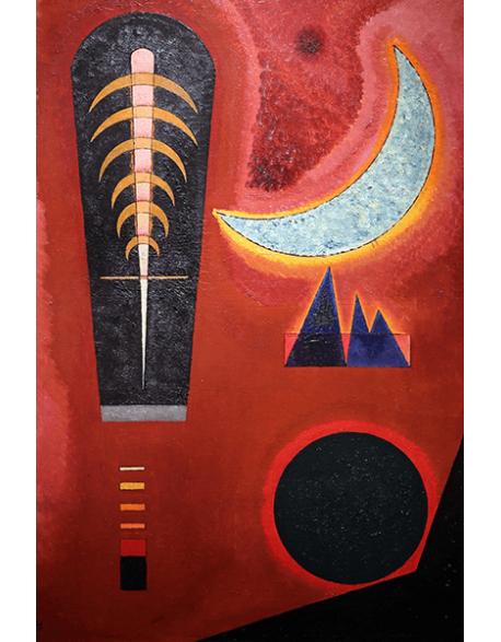 Reprodukcje obrazów Wassily Kandinsky Lost in red