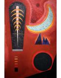 Reprodukcje obrazów Lost in red - Wassily Kandinsky