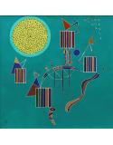 Reprodukcje obrazów An intimate party - Wassily Kandinsky