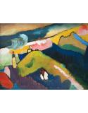 Reprodukcje obrazów Murnau Mountain Landscape with Church - Wassily Kandinsky