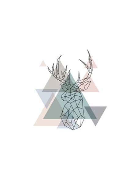 Abstrakcyjna Głowa Jelenia - Jeleń