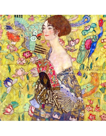 Reprodukcja obrazu Gustav Klimt Lady with fan