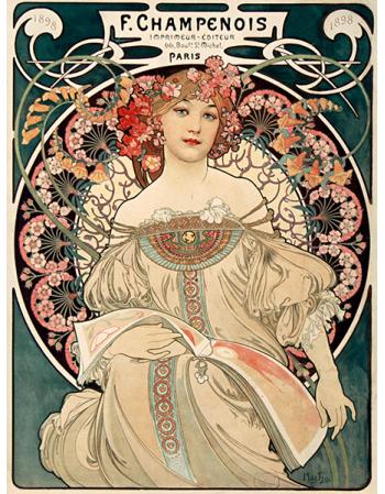 Reprodukcje obrazów Alfons Mucha F. Champenois imprimeur-editeur