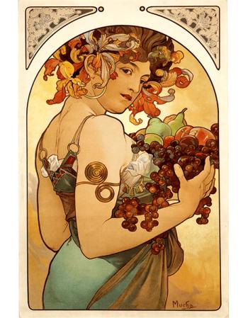 Reprodukcje obrazów Alfons Mucha Fruit_2