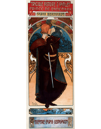 Reprodukcje obrazów Alfons Mucha Hamlet