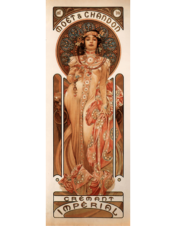 Reprodukcje obrazów Alfons Mucha Moet & Chandon Cremant Imperial