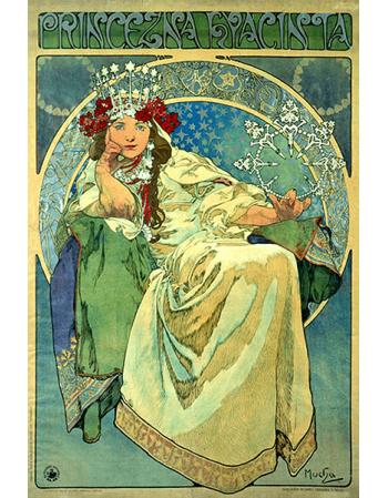 Reprodukcje obrazów Alfons Mucha Princess Hyazin
