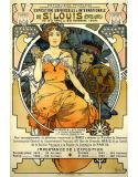 Reprodukcja obrazu St. Louis - Alfons Mucha