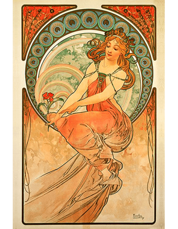 Reprodukcja obrazu The Arts Painting - Alfons Mucha