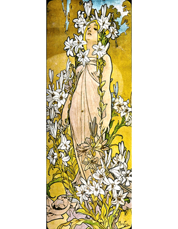 Reprodukcja obrazu The Flowers Lily - Alfons Mucha