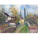 Reprodukcje obrazów A path at Les Sablons - Alfred Sisley