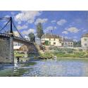 Reprodukcje obrazów Bridge at Villeneuve-la-Garenne - Alfred Sisley