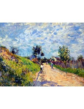 Reprodukcje obrazów Chemin montant - Alfred Sisley