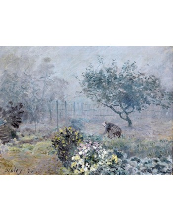 Reprodukcje obrazów Fog Voisins - Alfred Sisley