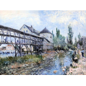 Reprodukcje obrazów Le moulin de Moret - Alfred Sisley