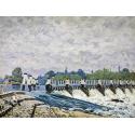 Reprodukcje obrazów Molesey Weir, Hampton Court - Alfred Sisley