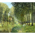 Reprodukcje obrazów Rest along the Stream Edge of the Wood - Alfred Sisley