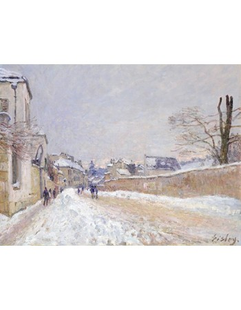 Reprodukcje obrazów Rue Eugène Moussoir at Moret-Winter - Alfred Sisley