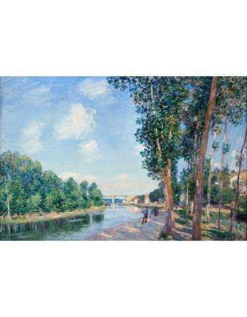 Reprodukcje obrazów Saint-Mammès. June Sunshine - Alfred Sisley