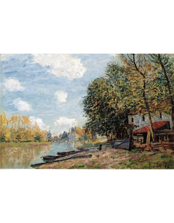 Reprodukcje obrazów The banks of the loing moret - Alfred Sisley