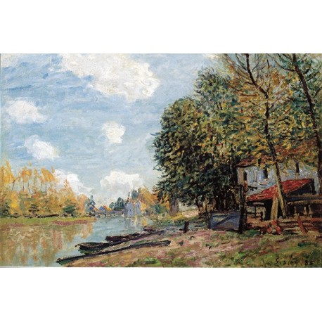The banks of the loing moret