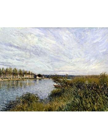 Reprodukcje obrazów View of Saint-Mammès -Walters - Alfred Sisley