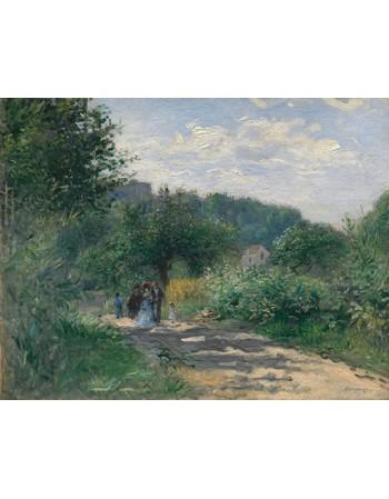 Reprodukcje obrazów A Road in Louveciennes - Auguste Renoir