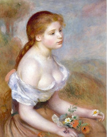 A Young Girl with Daisies