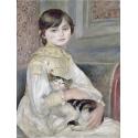 Reprodukcje obrazów Child with cat - Auguste Renoir