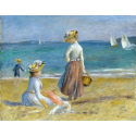 Reprodukcje obrazów Figures on the Beach - Auguste Renoir