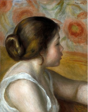 Reprodukcje obrazów Head of a Young Girl - Auguste Renoir