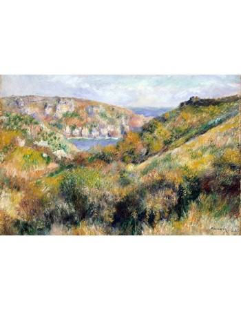 Reprodukcje obrazów Hills around the Bay of Moulin Huet, Guernsey - Auguste Renoir