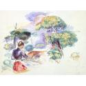 Reprodukcje obrazów Landscape with a Girl - Auguste Renoir