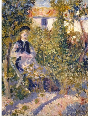 Reprodukcje obrazów Nini in the Garden - Auguste Renoir
