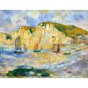 Reprodukcje obrazów Sea and Cliffs - Auguste Renoir
