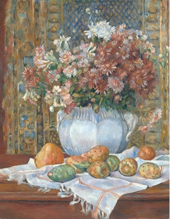 Reprodukcje obrazów Still Life with Flowers and Prickly Pears - Auguste Renoir