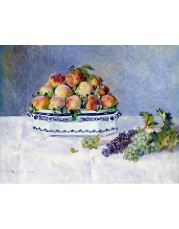 Reprodukcje obrazów Still Life with Peaches and Grapes - Auguste Renoir