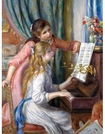 Reprodukcje obrazów Two Young Girls at the Piano - Auguste Renoir