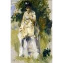 Reprodukcje obrazów Woman Standing by a Tree - Auguste Renoir