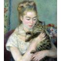 Reprodukcje obrazów Woman with a Cat - Auguste Renoir