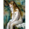 Reprodukcje obrazów Young Girl Bathing - Auguste Renoir