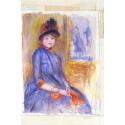 Reprodukcje obrazów Young Girl in a Blue Dress - Auguste Renoir